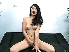 Exotic Evelyn Lin enjoys dudes pulsating cock deep inside her snatch in interracial action