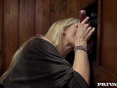 British Milf Rebecca Moore confesses all her sexual sins in Private;s all new Iconfess! After revealing all her anal encounters, this blonde cougar opens up her throat and gets cleansed by the priest with a sloppy blowjob.