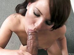 Casey Cumz enjoys intense cock sucking in steamy oral action with lucky guy