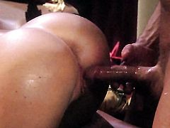 Kayla Carrera touches her hole and jugs gently