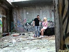 sexy blonde german teen gives a hot deepthroat in the ghetto