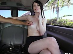 Alex has soft white skin, that is so pale, that it looks like a full moon. She is a wild one, because she agrees to get fucked hard in the back of the bang bus. When she got picked up, she was already so horny. She got her clit played with, and the cunnilingus and rimjob made her so wet.