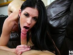 There is nothing better than a milf, that knows how to properly suck a cock. It's something all men deserve, sexy milf with nice tits sucking your cock and balls. We all should experience the joy of having a slutty mommy sucking our dick at least once in our life!