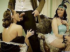 M'Lord Craves To Gangbang The Scullery Maid But His Mastix Won't Have It