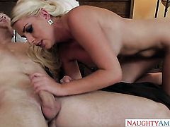 Blonde exotic Cherry Morgan learns more about hard sex from hot bang buddy