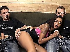 Constricted Swarthy Skin Diamond Double Screwed With White Males
