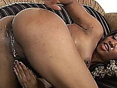 Sexy Ebony Girl Fucked by her Step Brother -