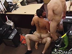 Two horny dick fucked hairy ass