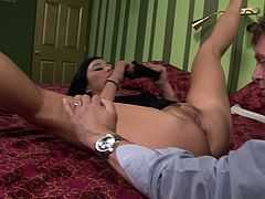 Anal pounding from a big cock makes her asshole gape