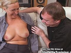 Joey Lynn is a hot blonde tall as fuck big tit teacher! She always keeps the attention of her students and their horny cocks. Watch her suck Dirty D's cock and get fucked nice and hard.