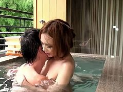 Ai Aoi erotically fucked and creampied!