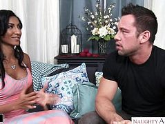Spicy Latina Sadie Santana fucks her friend's husband - Naughty America