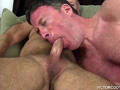 Travis Woods wants Rick Jaggers hole and Rick cant wait to take that cock bareback. After exchanging blowjobs, Rick moves into position and receives it balls deep, getting pounded long and hard in several positions. It is all hardcore bareback ass pounding action, until Travis finally erupts, leaving Rick with cum dripping out of his ass.