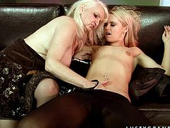 Old Granny having lesbian sex with younger girl