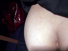 Fucking her from the back in a dimmed room