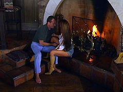 Banged by the fireplace