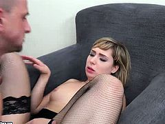 Connie Sparta hot anal sex and lick her feet
