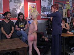 I was hired for a sex-party, where I would be fucked and humiliated by guests. I was moving nude, with a dildo in mouth. The owner made my ass red, by spanking hard. She ordered me to give blowjob to her friend. I was sucking his dick, while she was fingering me from behind.