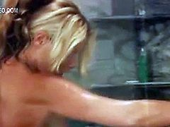 Nicole Sheridan in a hot shower scene