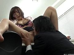 She'd like to have doggy style sex right there in the office!