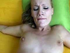 Blonde pussy in action with a big cock
