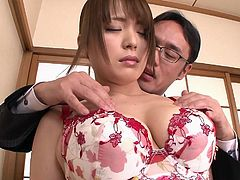 Every day it was more and more difficult to hide my sympathy for her. That day my desire peaked and I made the first step. I invited my busty coworker Yuino, in my office and offered her promotion in exchange for a quick sex. I groped her big soft tits and... Join and enjoy the breathtaking details!