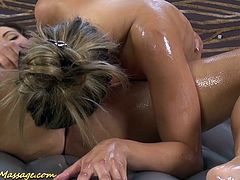 cute european lesbian babes in a real slippery nuru massage sex orgy