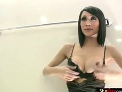 Tranny covered in chocolate sauce and sucking dick