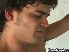 Sexy Latin Gay With Hard Barebacking Fuck. These very hot video of horny latino gays in one arousing gay asshole   hardcore cock feeding. Hardcore condomless gay anal pounding action with creamy cum lots of loads in the end.hot   gays doing threre romantic hot sex scene action.