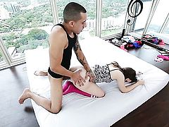 Kylie Quinn makes her dirty dreams a reality with dudes ram rod in her mouth