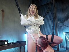 I love this honey and every time she gets into my hands, I try to make this time unforgettable for her. This blonde's pussy attracts me and to get more juices out of her, I even use electric sex toys. Real shocking for Mona Wales and her real orgasm! Relax and have fun!