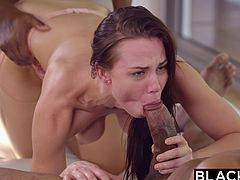 Sexy Aidra Fox can easily handle big black cocks and in this video, she had satisfied the sexual urge of two big black hunks. Except double penetration, you will find everything in this hardcore interracial threesome video.