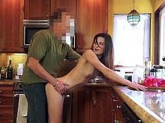 DadCrush - Tiny Step-Daughter Pounded In Kitchen