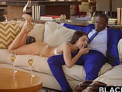 Adria meets the dashing Rob, dressed up and ready to start getting head from this white girl. White pussy is his passion, and he fills his passion a little too deeply. Young Adria is getting a hard, long, thick lesson about sex with black men.