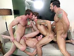 Come in and join us at Jizz Orgy. Enjoy watching hungry bottoms take in multiple cocks in all their holes. We guarantee, you'll cum like crazy. Watch new guys get banged by multiple men and showered with hot, sticky cum. You'd love to be part of one of these orgies! Wouldn't you?!