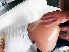 Blonde Luna Star with juicy melons cant live a day without getting her back swing fucked by Ramons hard, stiff, stuback swingrdy, throbbing, rock hard, rock solid, erect sausage