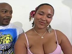Big Booty Angie Love pounded by a big black cock