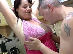 extreme big natural breast bbw housewife loves deepthroat and gives a hot footjob