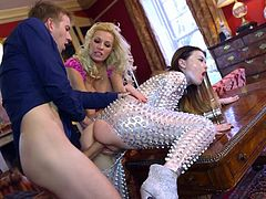 Visit official Brazzers Network's HomepageMichelle Thorne and Misha Cross are having a blst by dealing the same dick in a series of extreme threesome sex scenes combined with heavy oral