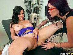 She came here for full body check up, but the doctor felt horny after seeing her. The female doc asked her to became naked and started fingering. To maximize the pleasure, she put a vibrator on clit. Medical check up turned into horny lesbian encounter and miss this video at your own risk...
