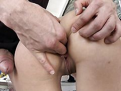 Brunette enjoys another nice cumshot session