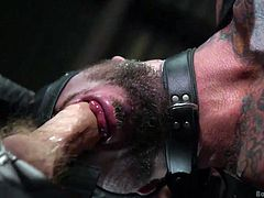 Here at Bound Gods, we bring you the best gay bondage videos with hottest hunks out there. One look at our muscled guy will convince you to join us. Feast your eyes on Dolf's muscles flexing, while he's tied up and struggling to breathe, as Christian pushes his big dick down his throat.