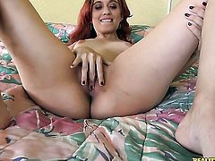 Redhead Rose Shadows enjoys cock sucking too much to stop in steamy oral action
