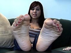 Stunning and gentle Latin Woman's Toes BST