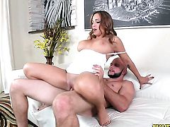Tattooed is happy with man cream on her nice face