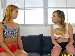 There is nothing sweeter than watching a smoking hot lesbian like Averi, seduce her roommate Alex. Alex learned that a woman can give her more pleasure than men. After all, Averi is experienced and knows how to eat pussy. Come in and listen to Alex moan hard, as Averi's tongue burrows her tight pussy.
