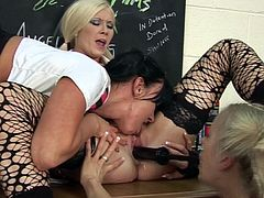 Angel Long is yearning to be ravished by a couple of lesbians