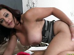 Brunette Jimmy Legend just loves to blow and cant say No to her hard dicked fuck buddy