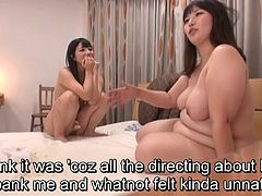 Legendary pale and voluptuous Japanese AV star Ai Uehara is tasked with pleasuring her BBW friend but things fall short of pleasure leading to some extra bizarre lesbian payback with English Subtitles