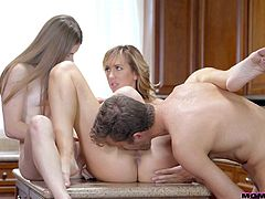 Brett Rossi really knows what is important in successful family live and she tries her best to share this information with her stepdaughter. If you think that it's about cooking and housekeeping, then you are wrong. It's about cock sucking and fucking... Enjoy!